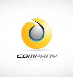 Business corporate sphere 3d logo icon design vector