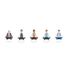 businessmen meditation vector image