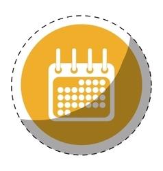 Calendar or agenda button thumbnail icon image vector