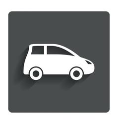 Car sign icon Hatchback symbol vector