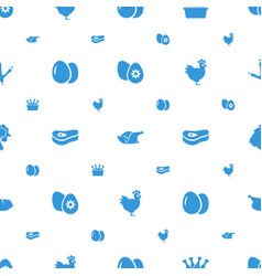Chicken icons pattern seamless white background vector