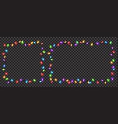 Christmas translucent fairy lights vector