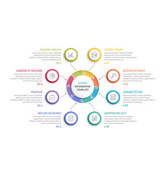 circle infographics - eight elements vector image