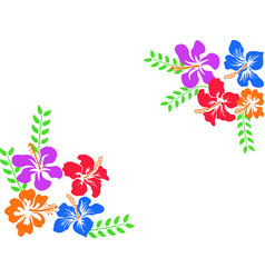 Color hawaii hibiscus background vector