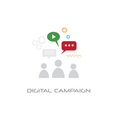 content marketing digital campaign concept people vector image