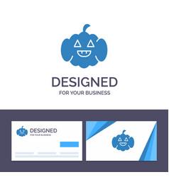 Creative business card and logo template pumpkin vector