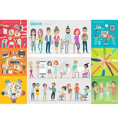 Creative team set vector image
