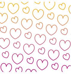 degraded line beauty heart romance symbol vector image