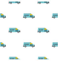 delivery van pattern flat vector image
