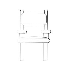 director wooden chair vector image