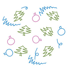 drawing for christmas vector image