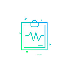 ecg report icon design vector image