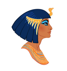Egyptian queen cleopatra isolated on white vector