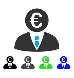 Euro clerk flat icon vector