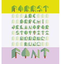 Forest Font vector image vector image
