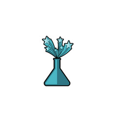 glass tube favorite laboratory logo vector image