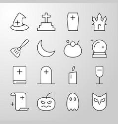 Halloween party thin line editable stroke icon vector