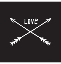 icon hand drawn love arrows vector image