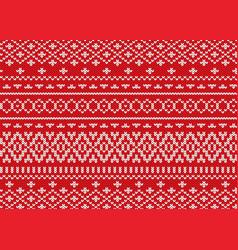 Knit geometric ornament design christmas seamless vector