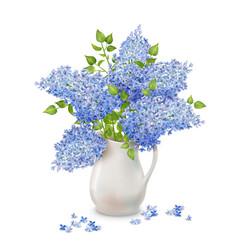 Lilac in vase vector