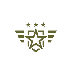 military icon on white background armed symbol vector image