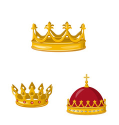 Monarchy and gold symbol vector