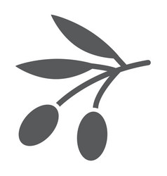 olives glyph icon vegetable and oil vegetarian vector image