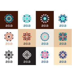 oriental geometric symbols vector image