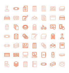pad icons vector image