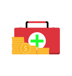 Paid medicine services vector
