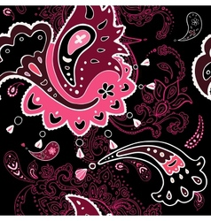 Paisley ornament seamless background vector image