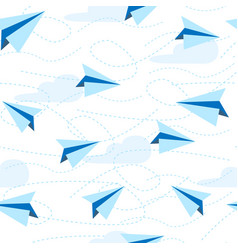 paper planes seamless pattern paper airplane vector image