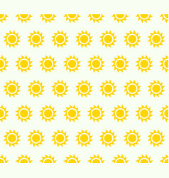 repeatable pattern background with small sun vector image