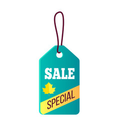 sale special blue sticker on vector image
