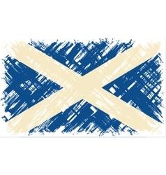 scottish grunge flag vector image