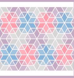 Seamless pattern classical geometrical hexagon vector