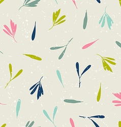 seamless pattern with silhouettes of leaves and vector image