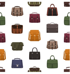 seamless pattern with trendy men s bags or vector image