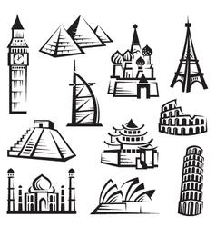set landmarks vector image