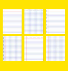 set of various blank empty paper vector image