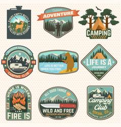 Set summer camp badges concept for vector