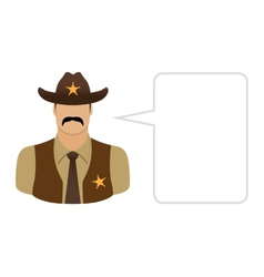 Sheriff Avatars and User Icons vector
