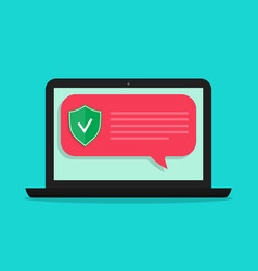 shield antivirus for safety data vector image