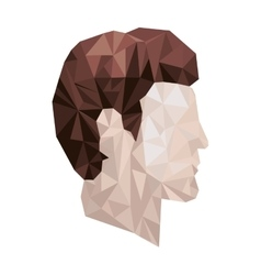 side view male abstract polygon portraits vector image