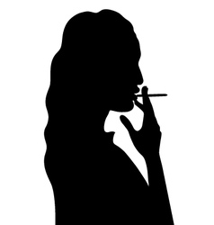 Smoking woman vector