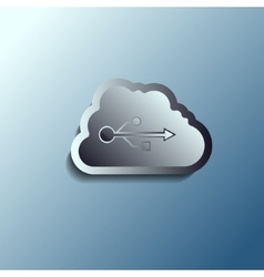 Steel 3d cloud Data storage vector
