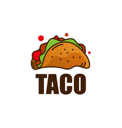 taco food logo icon vector image