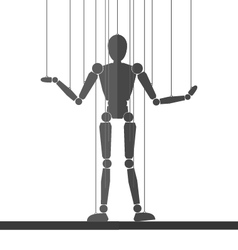 The power and manipulation puppet vector