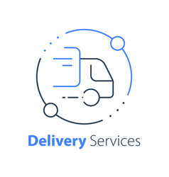 Truck delivery transportation company vector