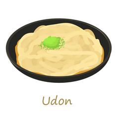 Udon icon cartoon style vector